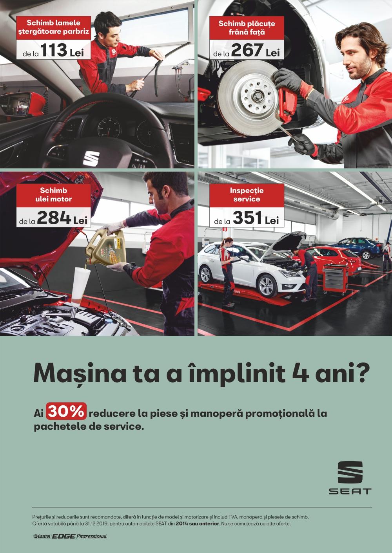 Oferta pachete service pentru automobilele SEAT din 2014 sau anterior